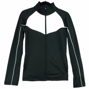 Nike dry fit black and white jacket